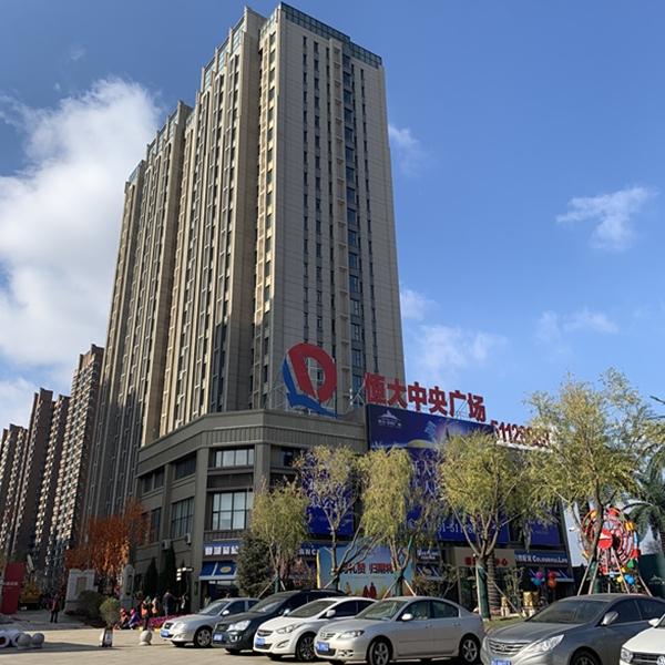 哈尔滨恒大中央广场地下停车场流展平涂工程