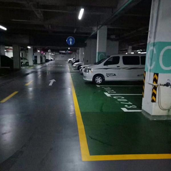 哈尔滨悦然臻城小区地下停车场水性环氧工程