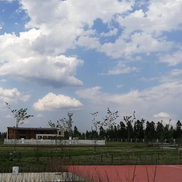长白山二道白河气象局弹性硅PU球场
